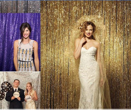 Wholesale Background Backdrop 3m - 3m*3m Colorful Sequin Backdrop Sequin Curtain Sequin Photo Wall Background Curtain For Wedding Party Birthday Use