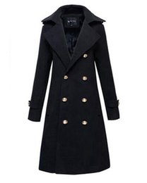 Wholesale Trench Coat Couple - The new autumn winter in Europe and the cultivate one's morality personality double-breasted couples cloth trench coat   S-2XL