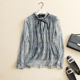 Wholesale Leopard Silk Chiffon Shirt - Top Design! 100% silk! 2017 Spring new arrival casual style women office lady shirt blouse free shipping HMR16074DEC1