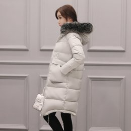 Wholesale White Faux Fur Top - Women Winter Long Coats Duck Down Jackets Fur Collar Hooded ThickeningWarm Tops Snow Coats Plus Size S-7XL Outwear Overcoat 6XL