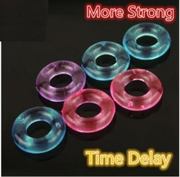 Wholesale Hard Cock - Silicone Flexible Glue Penis Rings wholesale Stay Hard Donuts Beaded Cockrings Delay Cock Rings stretch ring for male