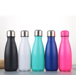 Wholesale Thermos Warmer - 260ML Cola Shaped Bottle Stainless Steel Double Walled Vacuum Insulated Water Bottle Cup Sport Vacuum Flasks Thermoses Travel Bottle OOA2212