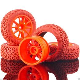 Автомобильные шины для ралли онлайн-RC HSP 910R-8019 колеса пластиковые обода Красный ралли шины для 1:10 на дороге ралли автомобиль