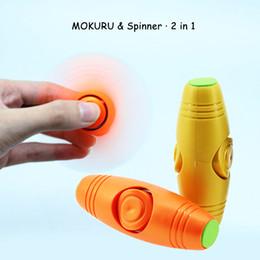 Wholesale Popular Science - 2 in 1 Hand Spinner & Mokuru Fidget Rollver Decompression Gag Toys Popular EDC Fingertip Pressure Top Bar Amazing Desktop Toys