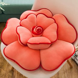 Wholesale Pink Roses Pillow Cases - Wholesale- Cute Decorative Creative Pillow Rose Cases Designs Plush Toys Rose Stuffed Toy Doll Toy Brinquedos Valentine'S Day Gift 50T0038