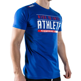 Wholesale Deportiva Ropa Hombres - Wholesale- 2016 Athletics Printed T Shirt men Fitness and Bodybuilding tshirt homme moda ropa deportiva hombre de marca 13 Model