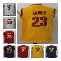 Wholesale Kyrie Irving Shirt - 2017 Cheap Youth 2 Kyrie Irving Kids 23 LeBron James Basketball boy Jerseys Child Shirts All Stitched Good Quanlity Mix Order