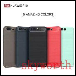 Wholesale Iphone 5s Case Slim Armor - Slim Armor Case for iPhone 7 7 Plus 6 5S SE galaxy S8 Plus S7 edge Carbon Fiber Brushed TPU Soft Back Cover