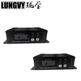 Wholesale Dmx Transmitter Receiver - 2pcs lot Wireless DMX 512 Receiver Transmitter 2.4G Wireless Dmx 512 Controller Transmitter Receiver Dmx Controller Repeater Disco Light