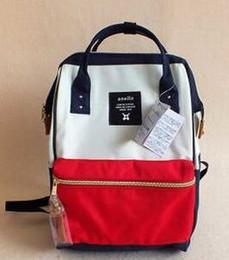 Wholesale Waterproof Rucksack Laptop - New Japan Backpack Stripe Handle Anello Backpack 2017 Unisex Travel Laptop Campus Rucksack School Bag Mommy Backpacks Waterproof Bags Cheap