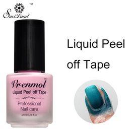 látex de uñas Rebajas Al por mayor-Vrenmol Protegido para la piel Vernis Peel Off Nail Glue Liquid Nail Art Tape Látex Uñas Palisade Care Gel Nail Polish