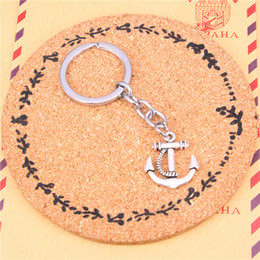 Wholesale Metal Anchors - Car Key Ring Pendant Silver Color Metal Key Chains Accessory Wholesale Free Shipping,Vintage anchor sea Keychain