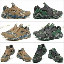 Wholesale Winter Hunting Camouflage - New Air Huarache 1 Men Running Shoes Camouflage High Quality Sneakers Outdoors Huaraches Trainers Athletic Sport Shoes Eur 40-45