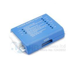 Wholesale Psu Sata - Blue PC 20 24 Pin PSU ATX SATA HD Power Supply Tester By English User's Guide