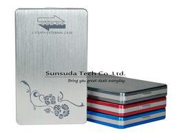 Wholesale Sata Hdd Usb Adapter - High Quality Tool free HDD Case aluminium 2.5 inch USB 3.0 to SATA External HDD Box HDD adapter