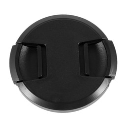 Wholesale Plastic Lens Cap - Wholesale-2 Pcs 62mm Plastic Clip On Front Lens Cap Cover Black for Camera