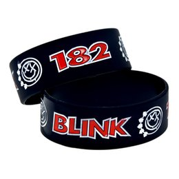 Wholesale Blink 182 - Wholesale 50PCS Lot Punk Style Band Blink 182 Silicone Wristband, Great To Used In Any Benefits Gift For Music Fans