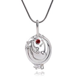 Wholesale Vintage Vampire Diaries Jewelry - Wholesale- The Vampire Diaries Pendant Elena Gilbert Vintage Red Crystal Vervain Verbena Silver Plated Necklace for women fashion jewelry