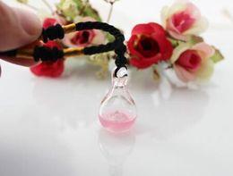 Canada Collier de bouteille de diffuseur d'arome de 18x32MM avec le trou inférieur (6 couleurs), pendentif de fiole d'arome, huile essentielle de verre de murano pendent cheap essential oil glass diffuser necklace Offre