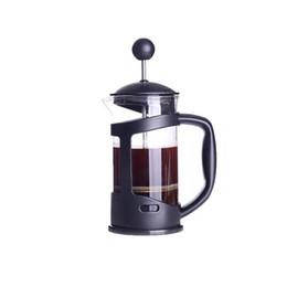 Prensas de té online-Método de olla a presión cafetera de prensa francesa tetera de vidrio hecha a mano filtro de café ollas de prensa 335 ml
