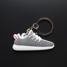 Wholesale Double box link usd Boost Keychain Mix Color new Sneaker Key Chain Kids Key Rings Key Holder Llaveros Chaveiro Porte Clef