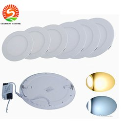 Wholesale Recessed Power - Ultrathin CREE 9W 12W 15W 18W 24W Round  Square LED Panel Lights Downlight+Power Supply Fixture Recessed Ceiling Down Lights Lamps CSA UL CE