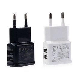 Wholesale Double Usb Wall Charger Iphone - Double Charger 5v 2A Adapter USB Wall Charging UK EU US Plug Travel Universal For Samsung Galaxy S7 S6 COPY