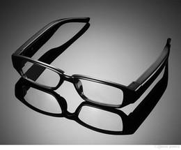 Wholesale Spy Cameras Glasses - 10pcs HD 1920x1080P Spy Glasses Camera No Hole glasses Camcorder Digital Video Recorder Hidden Eyewear Camera DVR Support 32GB TF Card