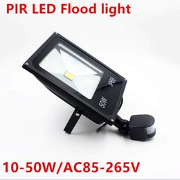 Wholesale Led Bulbs For Solar Lights - IP65 PIR LED flood light 10W 20W 30W 50W BULB spotlight Solar system garage for security with Motion SensorTime Lux adjust