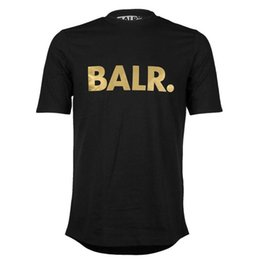 Wholesale Sequin Letters - Free Shipping Men's T Shirts Balr street tide brand short-sleeved round neck loose short-sleeved cotton men's personality men's T-shirt
