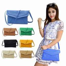 Wholesale Plain Magnetic Buttons - Wholesale- Fashion Shoulder Diagonal Magnetic Button Handbag Envelope Women's Messenger Cross Body Bag High Quality