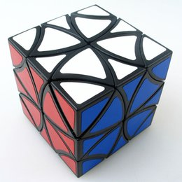 Wholesale Helicopter Shaft - Wholesale-Z-cube Curvy Cube , butterfly magic cube , Twelve shaft , flower Petals helicopter magic cube Balck And White Education toys