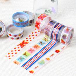 Wholesale Decorative Sticky Tape - Wholesale- 2016 10pcs Cartoon Patterns Washi Tapes Scrapebooking DIY Sticky Decorative Adhesive Masking Japanese Paper Tapes