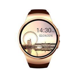 [Genuino] KW18 reloj inteligente Bluetooth de pantalla completa Soporte Tarjeta SIM TF Smartwatch Teléfono frecuencia cardíaca para apple gear s2 huawei negro oro plata desde fabricantes