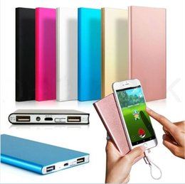 Wholesale thinnest portable charger - 20000 Mah Ultra Thin Slim Powerbank Phone Charger Portable External Battery Polymer Book Power Banks For iphone 7 plus Samsung s7 edge s8