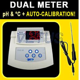 Wholesale Ph Temp Meter - Wholesale- Fast shipping Resolution 0.01PH PHS-3C Bench-top PH Meter Conductivity Temp Meter Tester