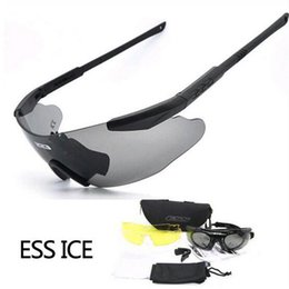 Gafas de ciclismo nocturno online-Venda al por mayor los ventiladores militares de los hombres anteojos dedicados de la visión nocturna que montan los vidrios Anti - Shock los deportes al aire libre que montan gafas de ciclismo