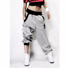 Wholesale Womens Baggy Trousers - Wholesale-Mens Womens Trousers Slacks Casual Harem Baggy Hip Hop Dance Sweat Pants
