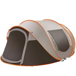 Tenda impermeabile antivento online-All'ingrosso 5-8 persone 280 * 200 * 120cm Ultralight grande tenda da campeggio impermeabile antivento Shelter Up automatico Tende viaggio escursionismo Tende