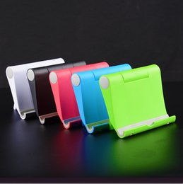 Wholesale I Pad Stands - Universal Cell Phone Stand Adjustable Desk Phone Holder For Cell phone Tablet PC I pad Free Shipping