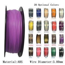 Wholesale 3mm Filament Abs - ABS 3MM Material 3D Printer Filament 1KG Plastic Rubber Consumables Material 3D Printer Filament Welding rods for Printer