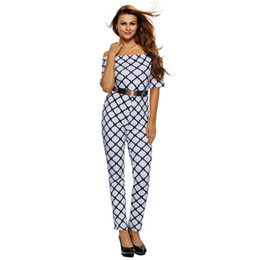 Wholesale Casual Strapless Black Jumpsuit - Autumn and winter the new five point sleeve collar sexy Strapless waist jumpsuit fashion women's casual bodysuit women 64179