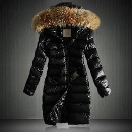 Wholesale Womens Long Down Parka - Fashion Women Long Winter Down Jacket Womens Slim Female Coat Thicken Parka Down Cotton Clothing Hooded Parkas High Quality