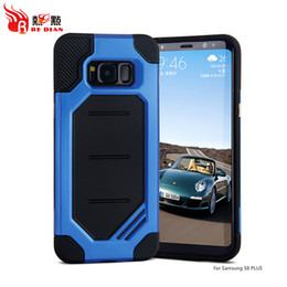 Wholesale Good Cracks - Custom Military Camouflage Design Available For Samsung S8+ Case Anti Crack shockproof Tpu PC Good Hybrid Mobile Case Covers