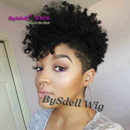 Wholesale Short Chic Wigs - Synthetic Short Cornrow Curl Wave Hair wig, Chic Short Curly Hair High Bang Style Black color hair wigs for black white women