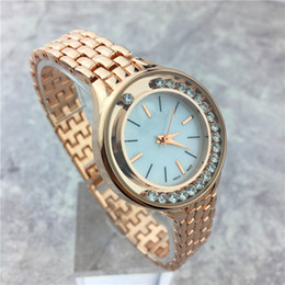 Wholesale New Rolling Stones - New Design Women watches Rolling Stones Rose Gold Lady Wristwatch Luxury Quartz Life Waterproof Luminous hands Wholesale price Free shipping