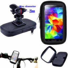 Wholesale Iphone 4s Pouches - Motorcycle Bicycle Phone Holder Mobile Phone Stand Support for iPhone 5 5S 5C 4S 6 Plus GPS Bike Holder with Waterproof Case Bag