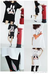 Wholesale Korean Maternity Skirt - 2016 new spring and summer Korean maternity cute cartoon short sleeved T-shirt skirt size long lactation for breastfeeding women 16049