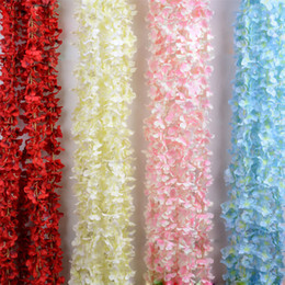 Wholesale Hawaii Long - Artificial Flowers Simulation Wisteria Vine Wedding Decorations Long Short Romantic Silk Plant Bouquet Room Office Garden