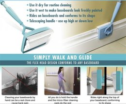 Wholesale Dust Free Cleaning Cloth - Baseboard Buddy Cleaning Mop Simply Walk And Glide Extendable Microfiber Dust Brush Household Cleaning Tool Baseboard Buddy Mops Free Ship